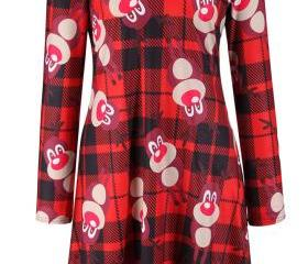 Christmas Rudolph The Red-Nosed Reindeer Printing Dress